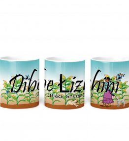 """Dibe lizhini (Black Sheep)"" Navajo Clan 11 Oz Mug with Harvest the Corn Background"
