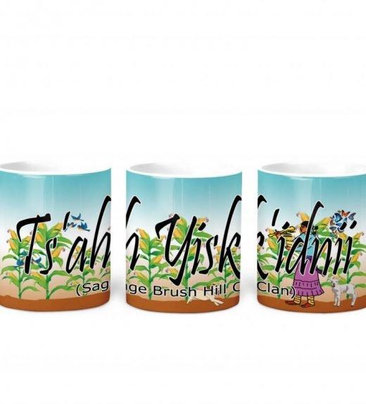 Sage Brush Hill w Turq BG 11 oz mug