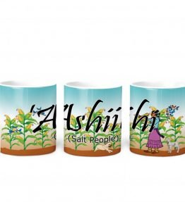 """Ashiihi (Salt People)"" Navajo Clan 11 Oz Mug with Harvest the Corn Background"