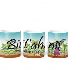 """Bit'ahnii (Within His Cover)"" Navajo Clan 11 Oz Mug with Harvest the Corn Background"