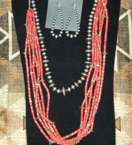 Coral and Necklace Set