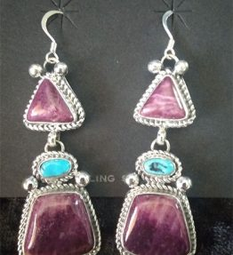 Purple and Sleeping Beauty Turquoise Earrings