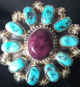 Turquoise and Spiney Cluster Ring