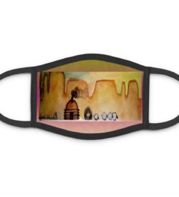 """AM Herd Out"" Navajo Art on Three Layer Face Mask"