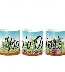 bead people w Turq BG 11 oz mug