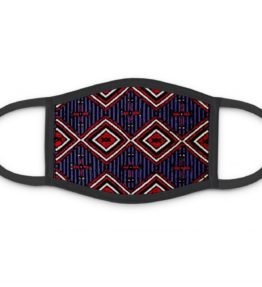 """""""Chiefs Rug"""" Navajo Art on Three Layer Face Mask"""