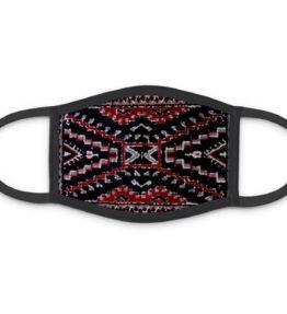 """Crystal Rug"" Navajo Art on Three Layer Face Mask"