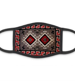 """Ganado Rug"" Navajo Art on Three Layer Face Mask"