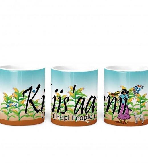 hopi w Turq BG 11 oz mug