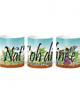 """Nat'oh Dine'e (Tobacco People)"" Navajo Clan 11 Oz Mug with Harvest the Corn Background"