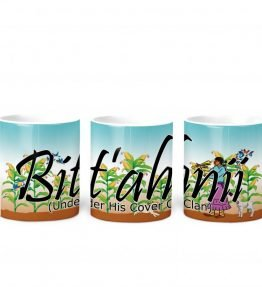 """Bit'ahnii (Under His Cover)"" Navajo Clan 11 Oz Mug with Harvest the Corn Background"