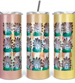 """15 in the Beginning"" Navajo Art on 20oz Stainless Steel Tumbler with Straw"