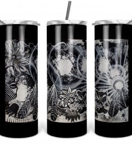 """Ascension"" Navajo Art on 20oz Stainless Steel Tumbler with Straw"