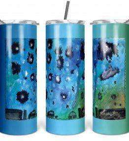 """Navajo Milky Way"" Navajo Art on 20oz Stainless Steel Tumbler with Straw"