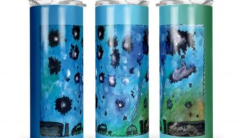 """Navajo Milky Way"" Navajo Art on 20oz Stainless Steel Tumbler with Straw"