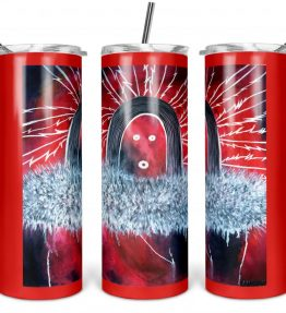 """""""Nine Day Ceremony"""" Navajo Art on 20oz Stainless Steel Tumbler with Straw"""