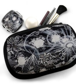 """Ascension"" Navajo Art on Cosmetic Bag with Mirror Compact"