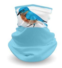 """""""Blue Bird"""" Navajo Art on Gaiter Face Covering"""