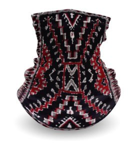 """Crystal Rug"" Navajo Art on Gaiter Face Covering"