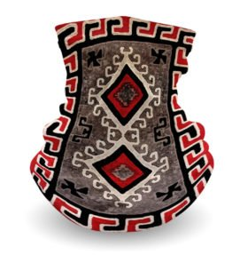"""Ganado Rug"" Navajo Art on Gaiter Face Covering"