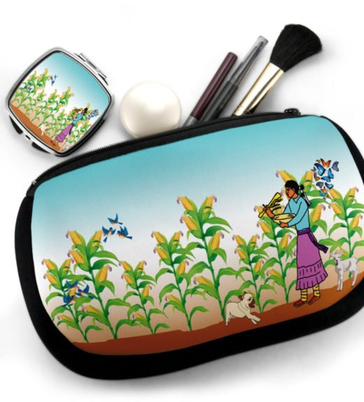 Harvest the Corn Cosmetic Bag w Compact