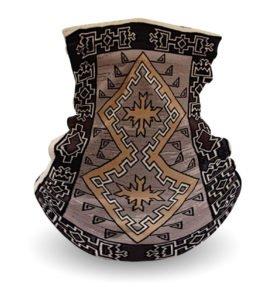 """Klagetoh Rug"" Navajo Art on Gaiter Face Covering"