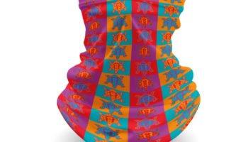 """""""Navajo Pop Art 4"""" Navajo Art on Gaiter Face Covering"""