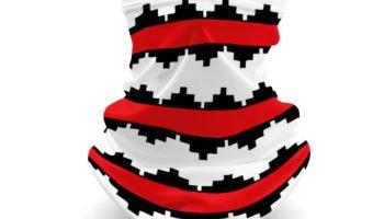"""Tribal Pattern 15"" Navajo Art on Gaiter Face Covering"