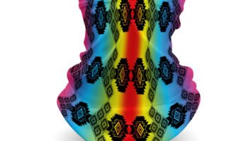 """Tribal Pattern 16"" Navajo Art on Gaiter Face Covering"
