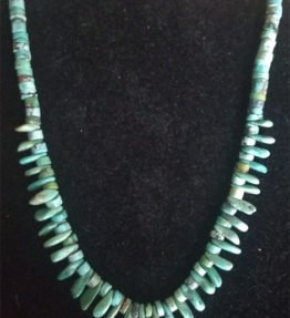 Single Strand Mixed Turquoise Necklace with Round and Tear Drop Beads