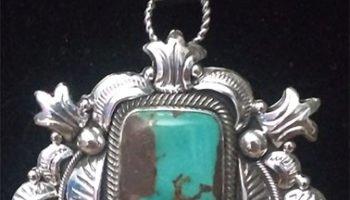 Classic Royston Turquoise Pendant