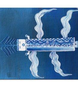 """Blue Corn"" Navajo Art on Mouse Pad"