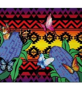 """""""Butterflies Repose"""" Navajo Art on Mouse Pad"""