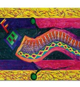 """Enthusiastic Dancer"" Navajo Art on Mouse Pad"