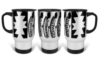 """Female Dancers"" Navajo Art on 14 Ounce Travel Mug"