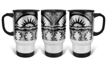 """Morning Blessings"" Navajo Art on 14 Ounce Travel Mug"