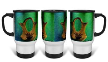 """The Wedding Gift"" Navajo Art on 14 Ounce Travel Mug"