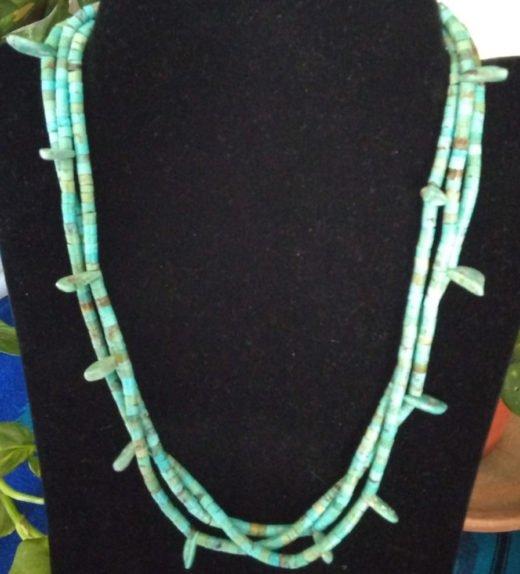 Turq Multi-Strand Necklace