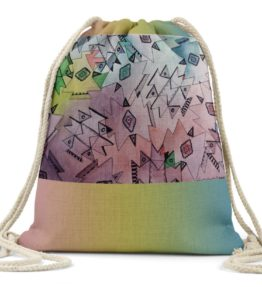"""Above and Beyond"" Navajo Art on Drawstring Backpack"