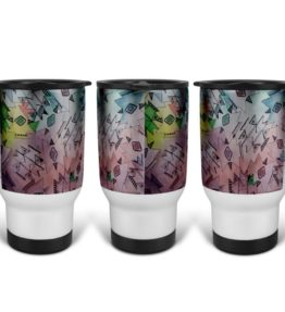 """Above and Beyond"" Navajo Art on 14 Ounce Travel Mug"