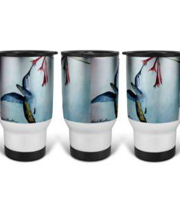 """""""Bearer of Good News"""" Navajo Art on 14 Ounce Travel Mug"""