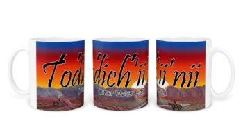 """Todich'ii'nii (Bitter Water Clan)"" Navajo Clan 11 Oz Mug with Dawn Background"