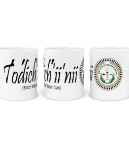 """Todich'ii'nii (Bitter Water Clan)"" Navajo Clan 11 Oz Mug with NN Seal Background"