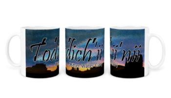 """Todich'ii'nii (Bitter Water Clan)"" Navajo Clan 11 Oz Mug with Dusk Background"
