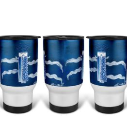 """Blue Corn"" Navajo Art on 14 Ounce Travel Mug"