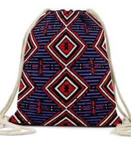 """Chiefs Rug"" Navajo Art on Drawstring Backpack"