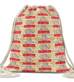 """Chi'zhii"" Navajo Art on Drawstring Backpack"