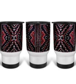 """""""Crystal Rug"""" Navajo Art on 14 Ounce Travel Mug"""