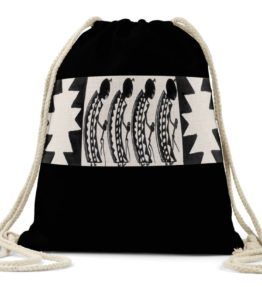 """Female Dancers"" Navajo Art on Drawstring Backpack"