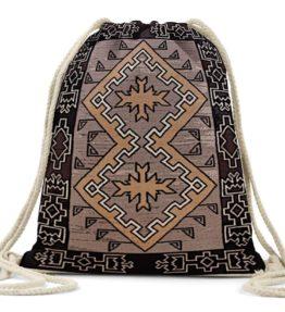 """Klagetoh Rug"" Navajo Art on Drawstring Backpack"
